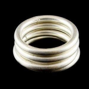 Silver Band Set Toe Rings