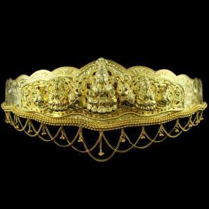 Gold Plated Nagas Lakshmi Oddiyanam