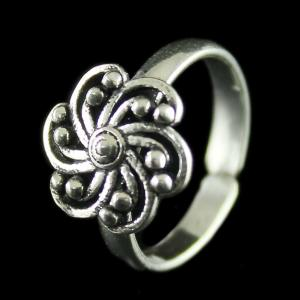 Silver Oxidized Toe Rings