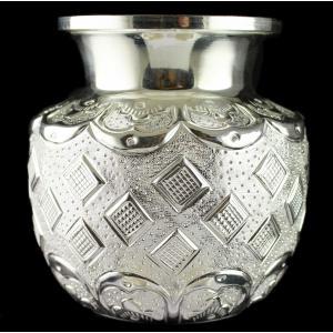 Silver Fancy Design Kalash
