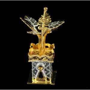 Silver Gold Plated Fancy Sangu Lamp