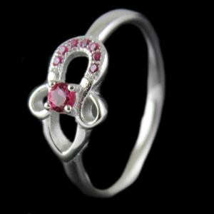 Silver Ring With Pink Stone