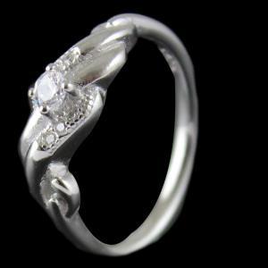 Silver White Stone Ring