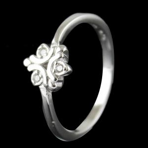 Silver Stone Color Ring For Woman