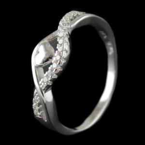 Silver Stone Ring For Woman