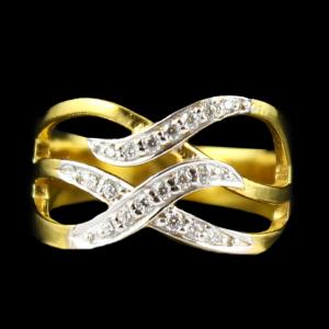 Gold PlatedZircon Stone Casual Wear Rings