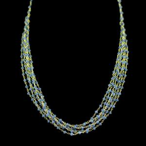 Blue Beads Party Wear Bunch Necklace