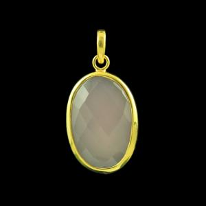 GOLD PLATED CHALCEDONY PENDANT