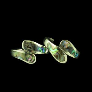 STERLING SILVER ABALONE SHELL TOE RINGS