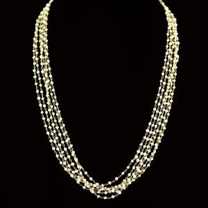 GOLD PLATED PEARL BEADS NECKLACE