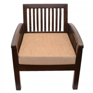 WOODEN SINGLE SEATER SOFA CHAIR