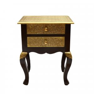 WOODEN TABLE WITH 2 DRAWER