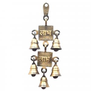 BRASS LABHA HANGING BELL 2 IN 1