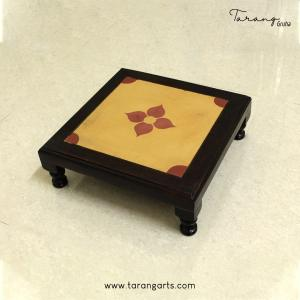 WOODEN STOOL WITH ATHANGUDI TILE