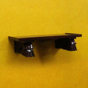 CARVED WOODEN SHELF WALL HANGING