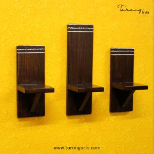 SET OF 3 PAINTED WOODEN  WALL HANGING