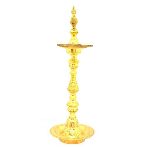 BRASS OIL LAMP ANNAPAKSHI