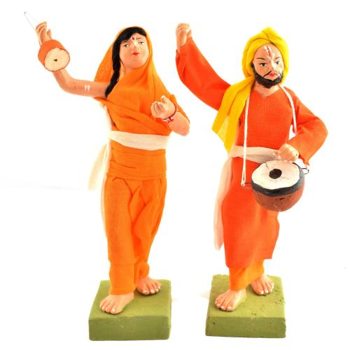 GOLU DOLL MUSICIAN SET OF 2