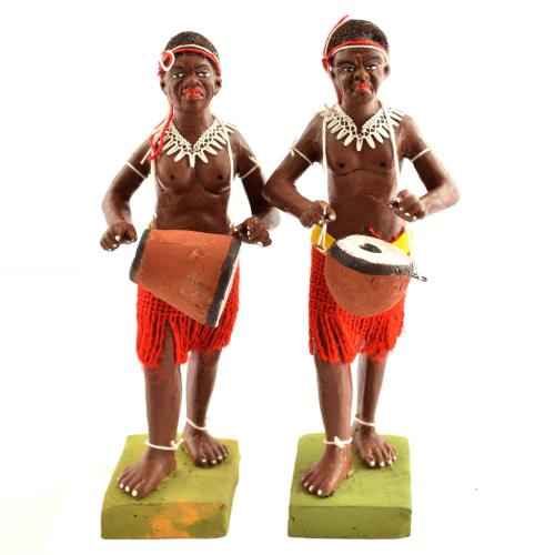 GOLU DOLL TRIBAL MUSICIAN SET OF 2