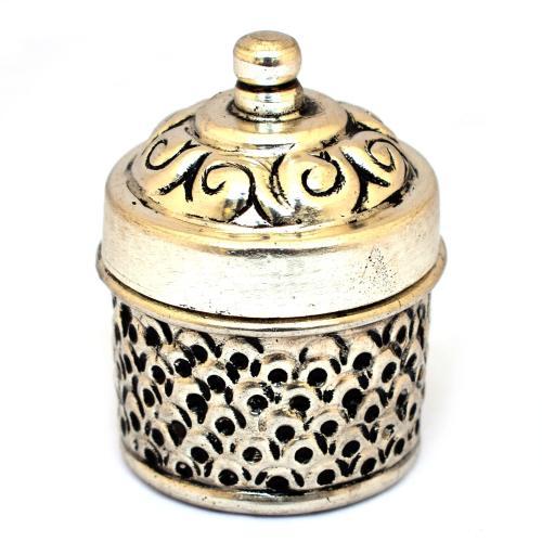 brass kumkum box