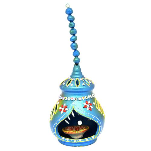 CUTTING HANGING BLUE DIYA