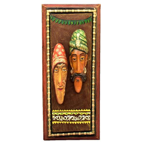 TRIBAL FACE MASK WALL HANGING