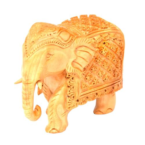 WOODEN ELEPHANT CARVING FINE