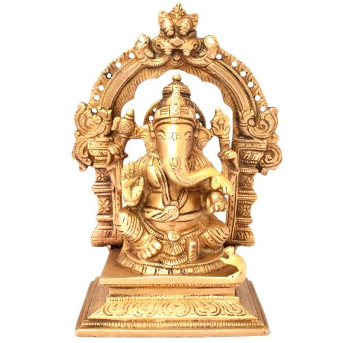 GANESHA SITTING YALI WITH RING