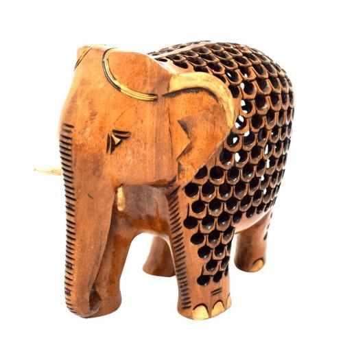 WHITE WOOD ELEPHANT JALI