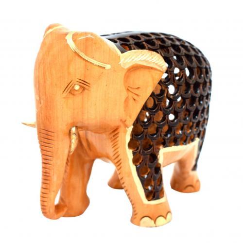 WHITE WOOD ELEPHANT FULL JAI AQ
