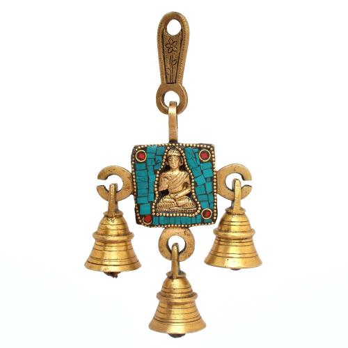 BRASS BELLS DESIGN BUDDHA