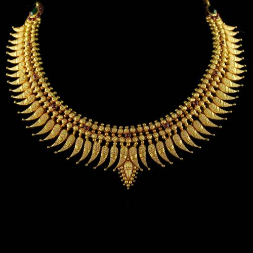 Gold Plated Mango Design Necklace
