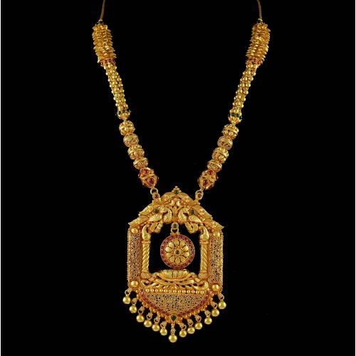 Gold Plated Peacock Design Necklace