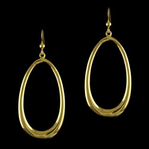 92.5 Gold Plated Silver Fancy Design Earring