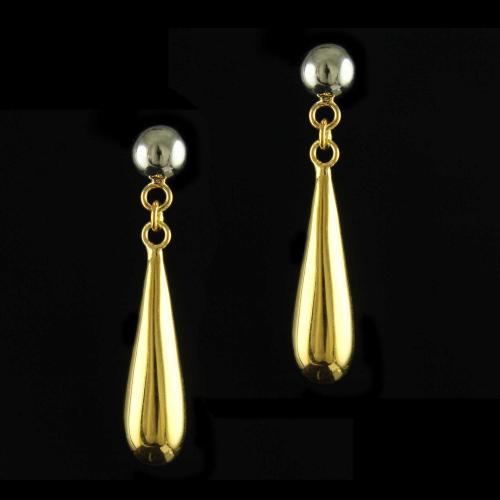 92.5 Gold Plated Silver Fancy Design Earrings