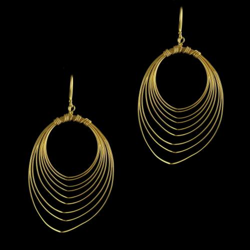 92.5 Gold Plated Silver Fancy Design Earring