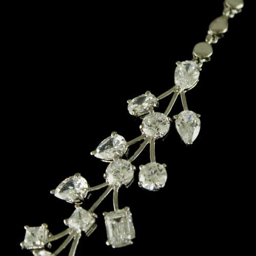 92.5 Sterling Silver Swarovski zircon Necklace