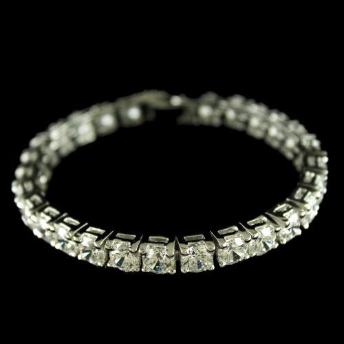92.5 Sterling Silver Swarovski Stones Bracelets