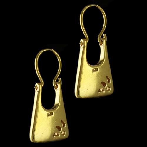 GOLD PLATED HANING EARRINGS