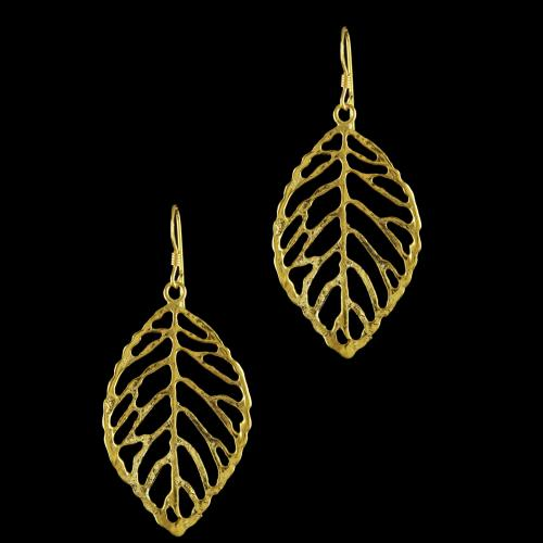 92.5 Gold Plated Silver Fancy Design Casual Earrings