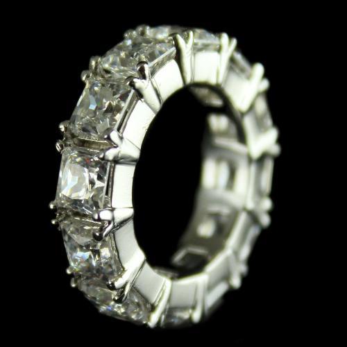 92.5 Sterling Silver Band Finger Rings Studded Swarovski Stones