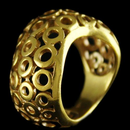 Silver Gold Plated Fancy Design Rings