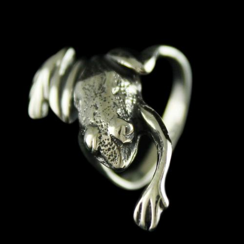 Silver Frog Design Finger Rings
