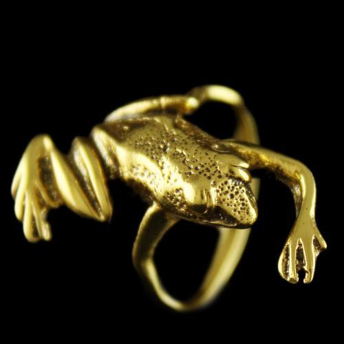 Silver Gold Plated Frog Design Finger Rings