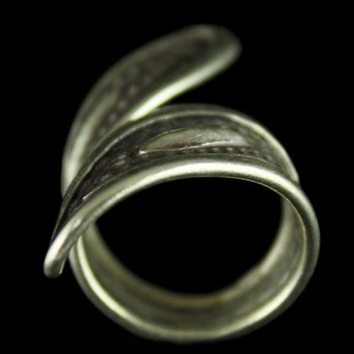 Silver Oxidized Plain Fancy Finger Rings