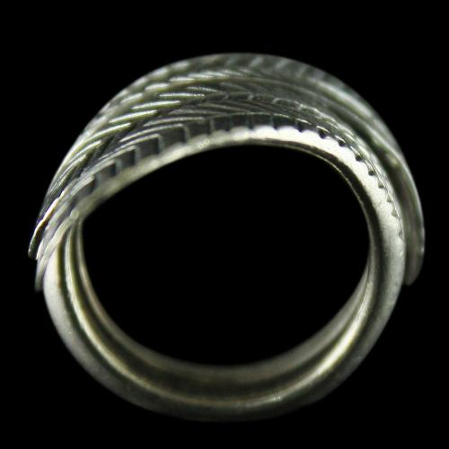 Silver Oxidized Fancy Design Finger Rings