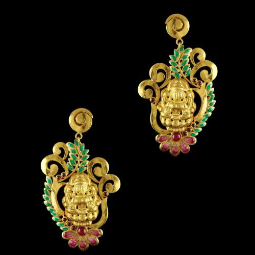Silver Gold Plated Earrings Studded Pearl