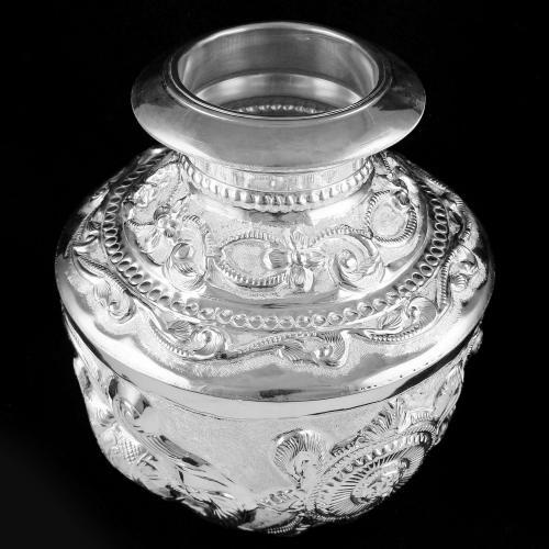 92.5 Silver Gaja Lakshmi Kalash