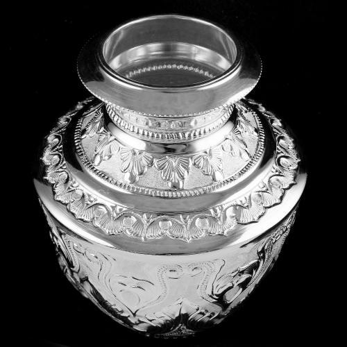92.5 Silver Floral Design Kalash