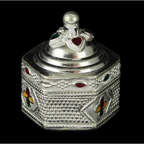 Enamel Floral Antique Design Kumkum Box